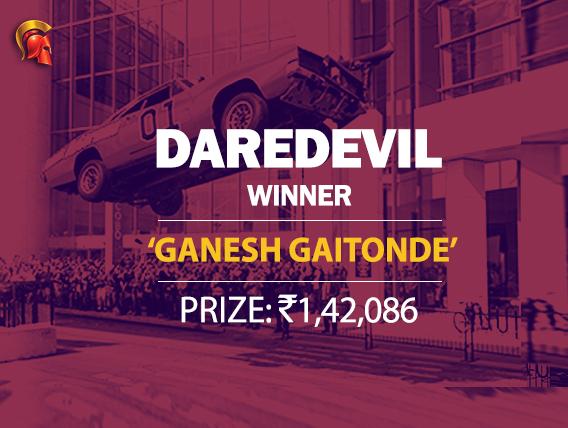 'Ganesh Gaitonde' wins this week's Spartan DareDevil