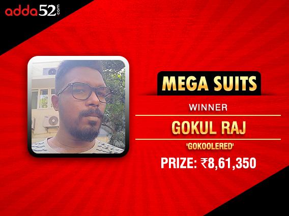 Gokul Raj is new Mega Suits champion on Adda52