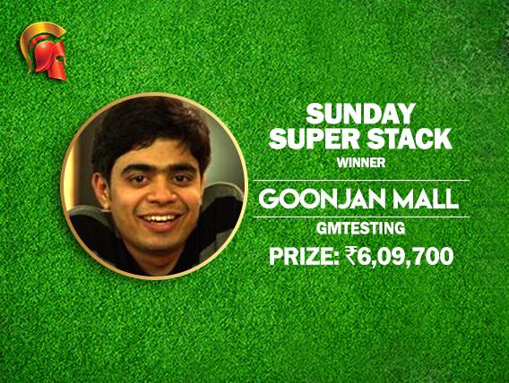 Goonjan Mall is back again; wins Sunday SuperStack