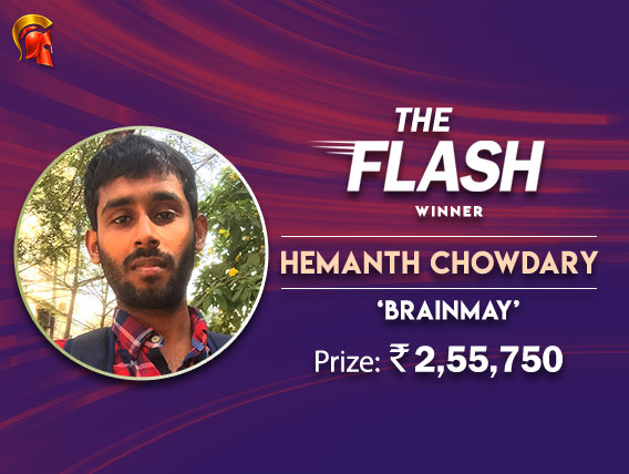 Hemanth Chowdary wins The Flash at Spartan