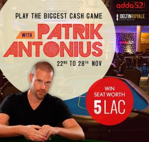 High-Stakes Pro Patrik Antonius to visit India this month!