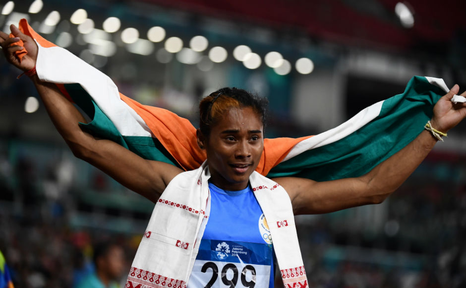 Hima Das wins India Silver at Asian Games