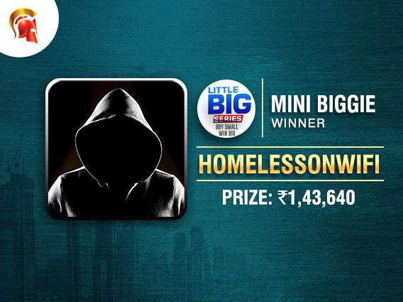'HomelessOnWiFi' claims Mini Biggie at Little Big Series