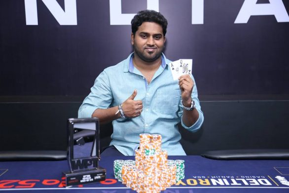 Kalyan Chakravarthy claims WPT India Highroller for INR 37L