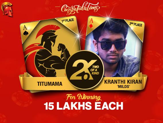 Kranthi Kiran and 'Titumama' are September 2.o.K winners
