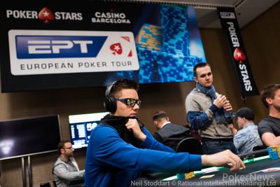 Matthias Eibinger leads final 9 in EPT €100k High Roller