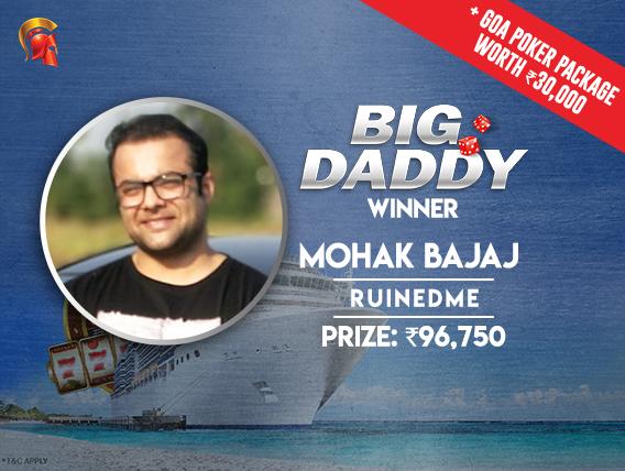 Mohak Bajaj wins Big Daddy tournament at Spartan