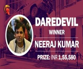 Neeraj Kumar wins DareDevil at Spartan