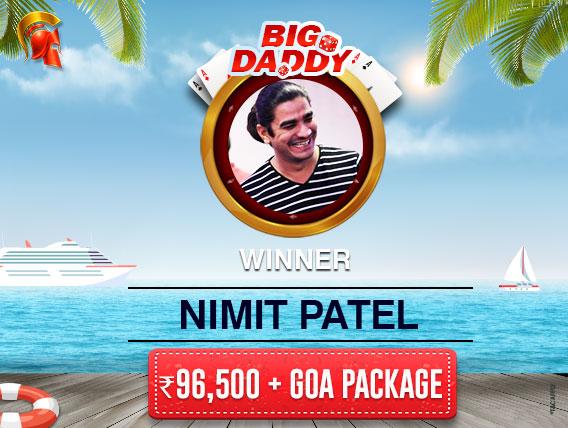 Nimit Patel wins Big Daddy on Spartan; wins trip to Goa.jpg