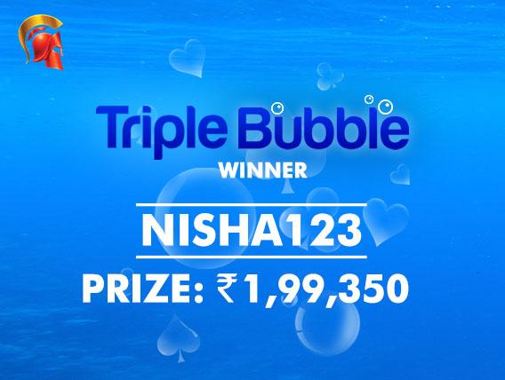 'Nisha123' wins Spartan's first Triple Bubble event