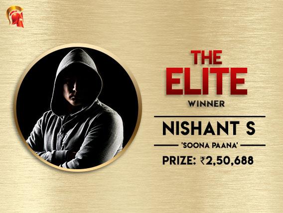 Nishant S wins the Elite at Spartan