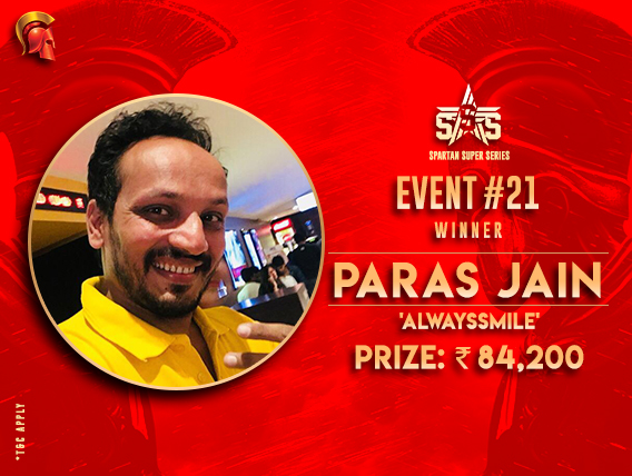 Paras Jain among title winners on SSS Day 4