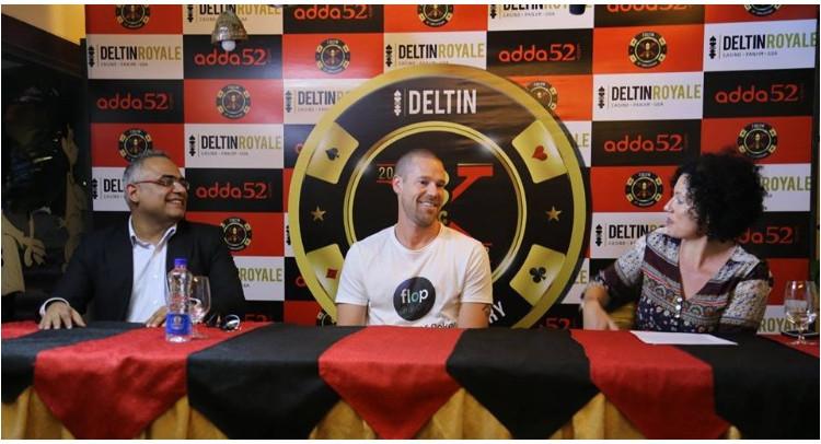 Patrik Antonius celebrates with Delta Corp in Goa