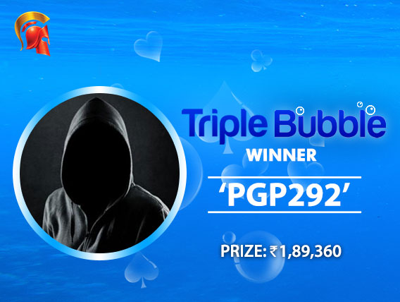 'Pgp292' ships Triple Bubble at Spartan