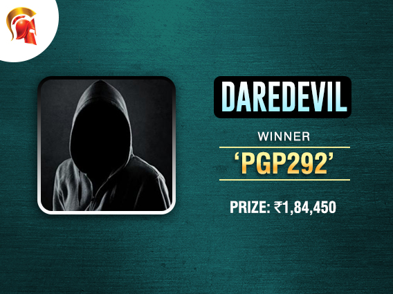 'Pgp292' wins another title, this time at Spartan DareDevil