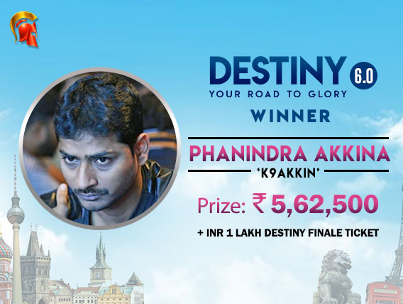 Phanindra Akkina makes another Destiny Finale SnG