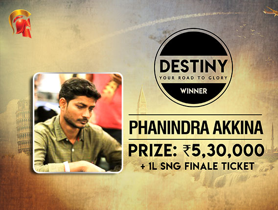 Phanindra Akkina wins third Destiny tournament on Spartan