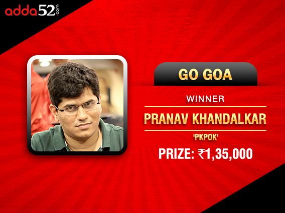 Pranav Khandalkar wins Go Goa; tops Ace Race on Adda52