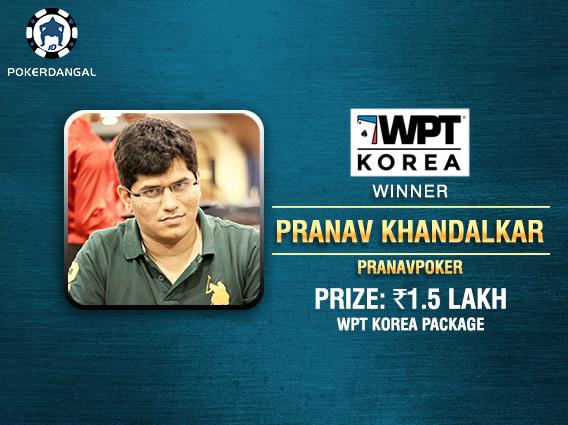 Pranav Khandalkar wins WPT Korea Package on PokerDangal