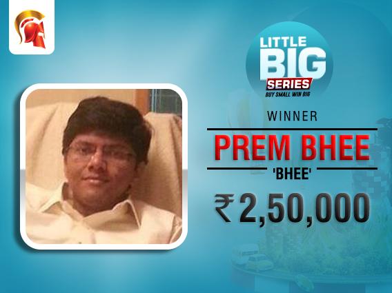 Prem Bhee takes down Little Big Series Main Event