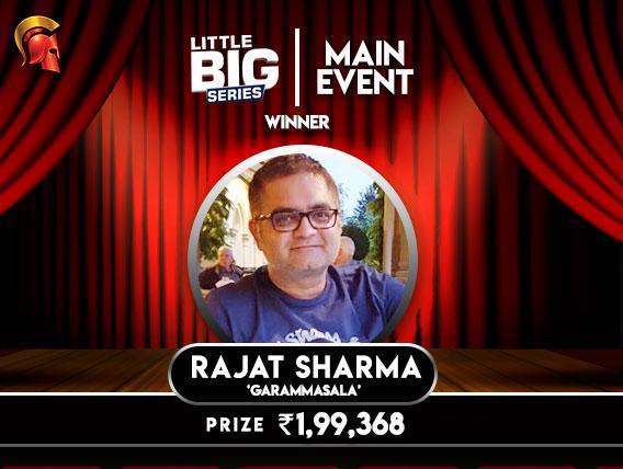 Rajat Sharma wins LBS Main Event on Spartan