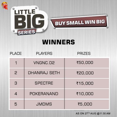 Rajat Sharma wins LBS Main Event on Spartan1