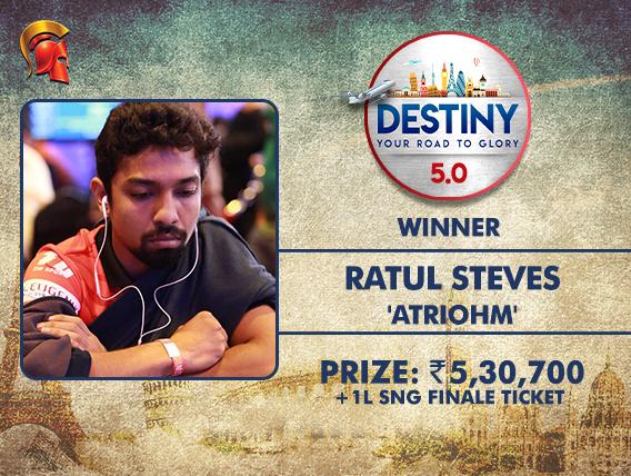 Ratul Steves is this weeks Destiny winner at Spartan