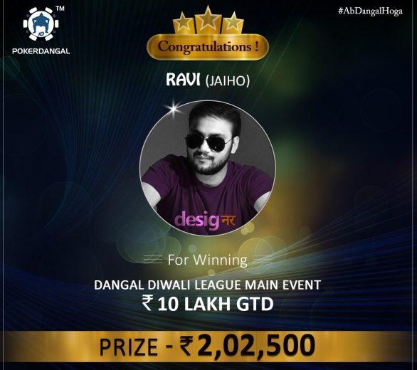 Ravi Sharawat wins Dangal Diwali League Main Event