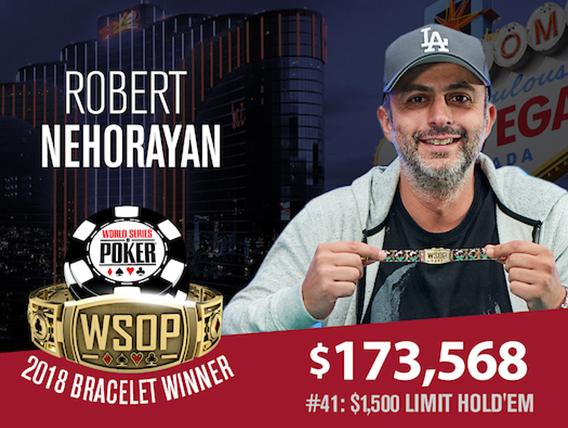 Robert Nehorayan wins gold in Limit Holdem Event