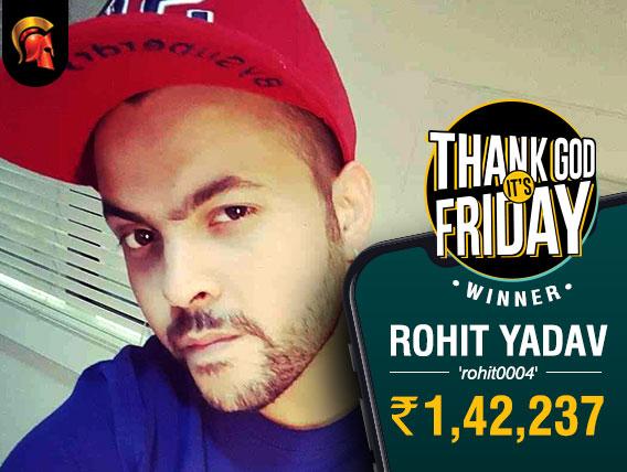 Rohit Yadav wins Spartan's inaugural TGIF tournament