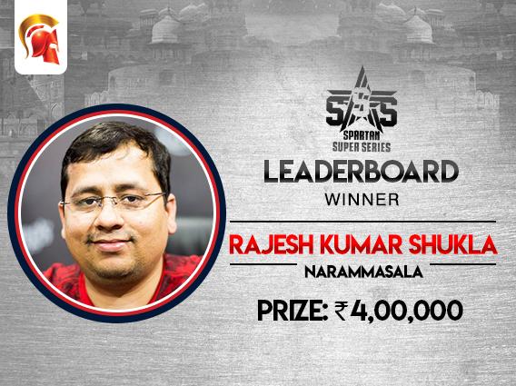 SSS Leaderboard winner declared - Rajesh Kumar Shukla