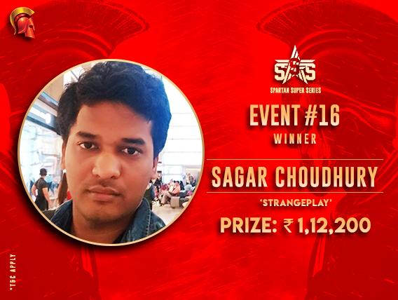 Sagar Choudhury claims big prize in SSS #16