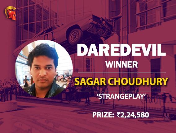 Sagar Choudhury scores a win at Spartan DareDevil
