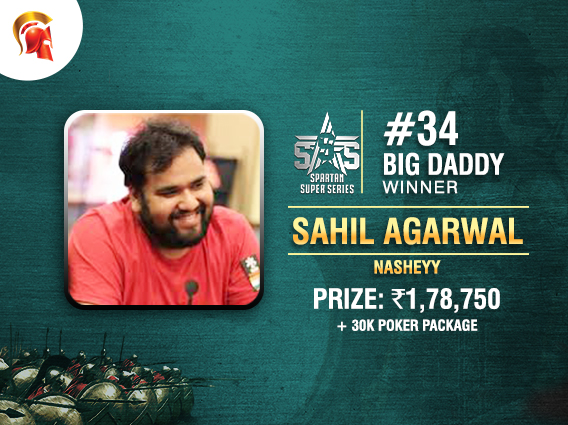 Sahil Agarwal wins SSS Big Daddy on Spartan