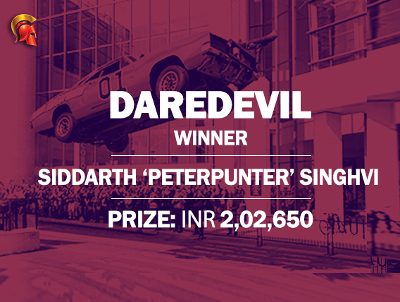Siddarth Singhvi takes down Spartan DareDevil
