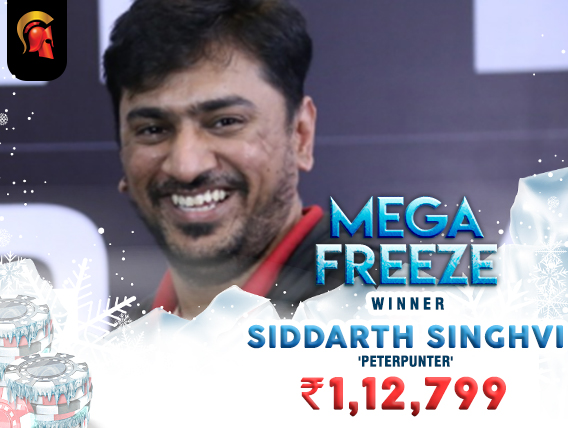 Siddarth Singhvi wins Spartan Mega Freeze after 3-way deal