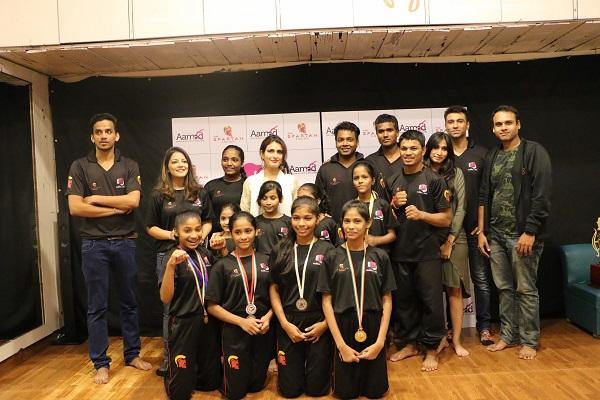 Spartan and Fatima Shaikh felicitate MukkaMaar girls