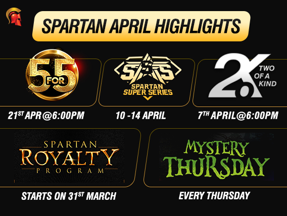 Spartan's April calendar studded with exciting events
