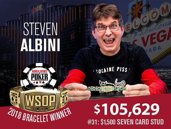 Steve Albini takes down $1500 Seven Card Stud