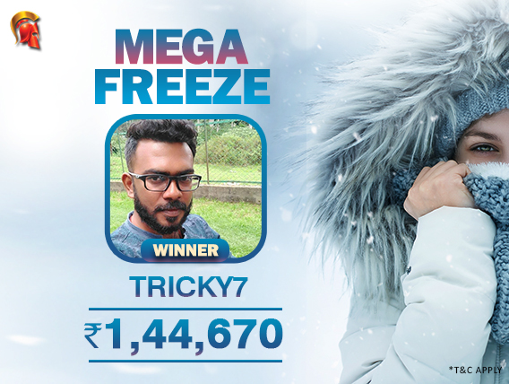 'Tricky7' wins Mega Freeze on The Spartan Poker