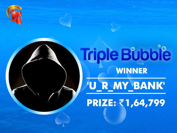 'U_R_MY_BANK' wins Triple Bubble title on Spartan