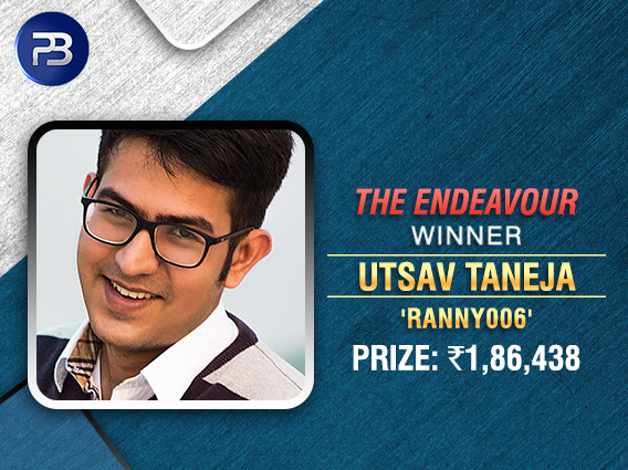 Utsav Taneja is the latest Endeavour champ on PokerBaazi