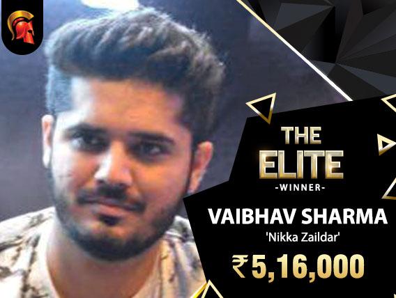 Vaibhav Sharma takes down Spartan Elite
