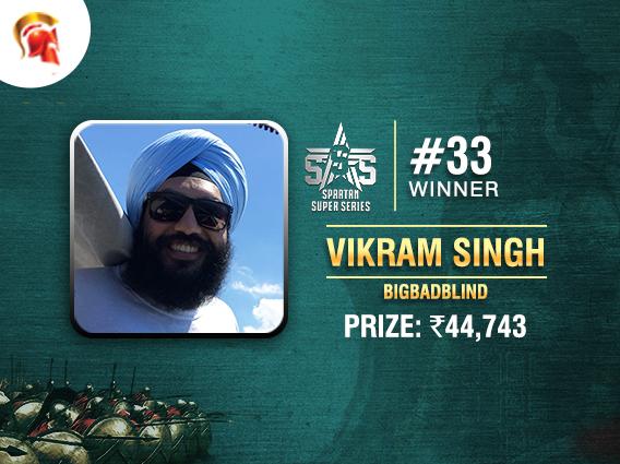 Vikram Singh wins SSS Event #33 on Spartan