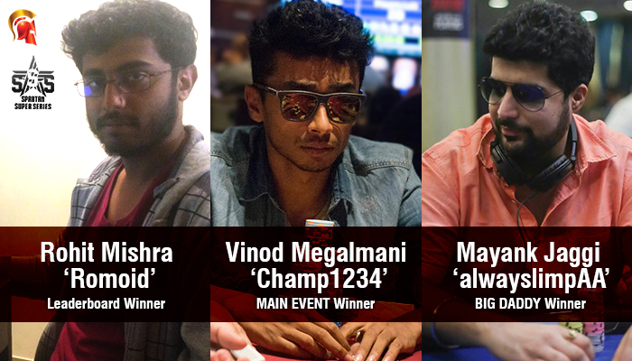 Vinod Megalmani wins SSS Main Event for INR 15,44,000