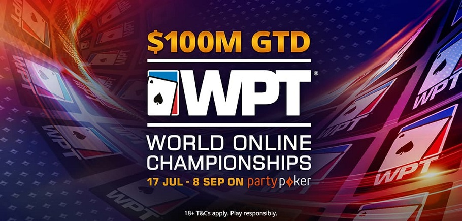 Whopping $100mn GTD in WPT World Online Championships!
