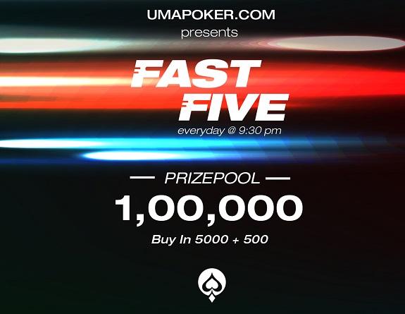 Win big in Uma Poker's daily 'Fast Five' tournament