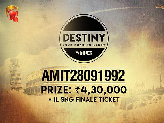 'amit28091992' wins Destiny tournament on Spartan