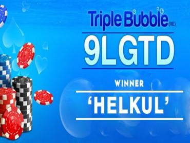 'helkul' wins the Spartan Triple Bubble this week