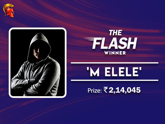 'm elele' wins The Flash on The Spartan Poker